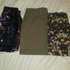 Bundle of 3 mini skirts All new never worn has tags attached. Skirts Mini