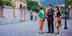 Testigos de Jehová predicándole a una señora en Georgia
