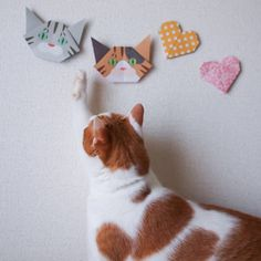 Catchy Cat Origami, Origami Heart