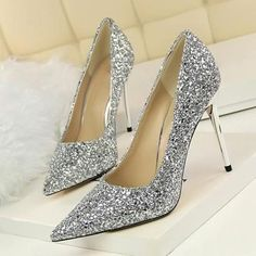 Escarpins Glitter magnifique mariée Soirée Cristal Talons mi Chaussures Femme Noir TcnkrRwbgT
