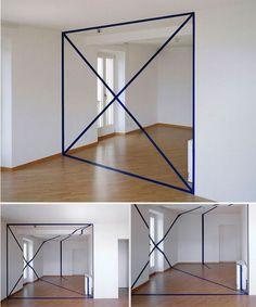 Anamorphis Illusion - by Felice Varini.