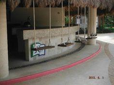 Secrets Maroma Beach Riviera Cancun: beach bar with swing seats