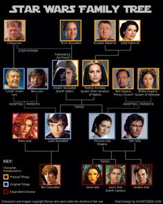 Star Wars family tree...... The part that will always break my heart is Jacen Solo...... When I read through the books and his fall to the dark side..... I cried...... It wasn't fair.....