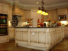 Antique kitchen design- considering reprinting my orange kitchen for more this feel- but I'd be a little sad :/