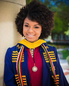 Graduation should be celebrated as the day of success, a long and challenging process. College Graduation Announcements, College Graduation Pictures, Graduation Picture Poses, College Graduation Parties, Graduation Photoshoot, Grad Pics, Graduation 2015, Graduation Ideas, Natural Afro Hairstyles