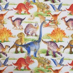 Dino World French Terry Jersey, perfect for children clothing project and crafts sewing Projects For Kids, Craft Projects, Flamingo Fabric, Dinosaur Fabric, Dinosaur Design, Children Clothing, Dundee, Fabulous Fabrics, French Terry