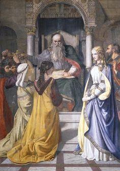 King Lear Disinheriting Cordelia by John Rogers Herbert (1850)