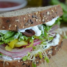 Greek Vegetable Sandwich with Feta Spread