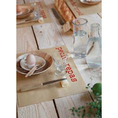 set de table en papier kraft imprimé petit repas