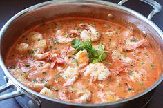 Scampi diabolique Scampi, Thai Red Curry, Ethnic Recipes, Food, Essen, Meals, Yemek, Eten