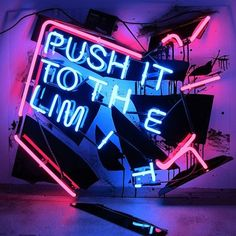 """push"" by Patrick Martinez. 2012. Neon, plex and enamel paint. Scope Art Show, Miami.#blackrainbow"