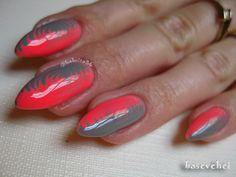 Manicure Hybrydowy Semilac - Jak zrobić kręciołki - No Water Marble/Dry . Manicure, Nails, Nail Inspo, Nail Designs, Pink, Beauty, Marble, Water, Finger Nails