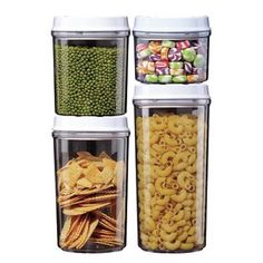 Stor-All Solutions 8 Piece Twist Top Canister Set, Clear Oxo Pop Containers, Kitchen Storage Containers, Kitchen Organization Pantry, Jar Storage, Kitchen Canister Sets, Kitchen Canisters, Safe Food, Closets, Furniture Decor