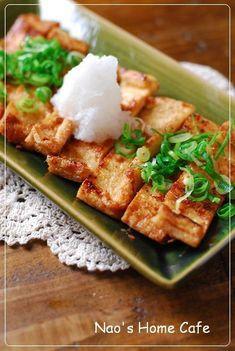 カリカリ油揚げの生姜焼き♡大根おろし添え by なお★nao [クックパッド] 簡単おいしいみんなのレシピが213万品