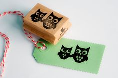 Owls stamp by MissHoneyBird on Etsy, €11.95
