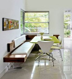 love the window with the seating built in