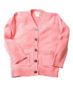 Another great find on #zulily! Bon-Bon V-Neck Cardigan - Toddler & Girls by Olive Juice #zulilyfinds
