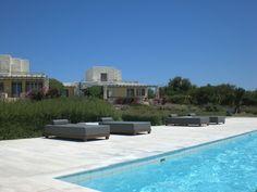 Paros, Stagones luxury Villas Pool Daybeds..