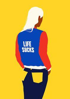 oculto - visualgraphc:   LIFE SUCKS