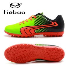 43.50$  Watch now - http://ali3bj.worldwells.pw/go.php?t=32757034510 - TIEBAO Professional TF Turf Soles Rubber Soccer Shoes Boys Girls Athletic Sports Training Sneakers New Design 2016 Soccer Cleats