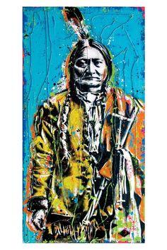 Sitting Bull - 12 x 18 High Quality Art Print by PointBlankDesign on Etsy https://www.etsy.com/listing/60949111/sitting-bull-12-x-18-high-quality-art
