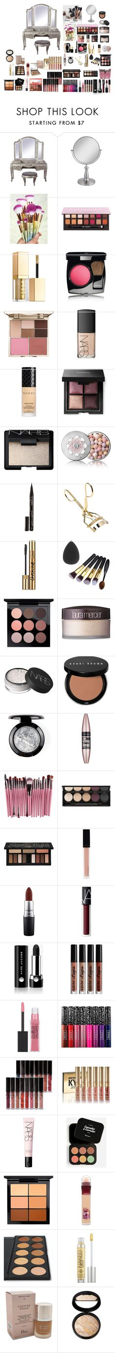 """Make Up"" by elma-alibasic ❤ liked on Polyvore featuring Universal Lighting and Decor, Chanel, Stila, NARS Cosmetics, Gucci, Guerlain, Smith & Cult, Yves Saint Laurent, MAC Cosmetics and Laura Mercier"