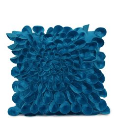 Look at this Turquoise Starburst Plush Petal Throw Pillow on #zulily today!