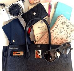 Plane Ticket Your guests know that you and your intended are die-hard jet-setters, so why not incorpora What In My Bag, What's In Your Bag, Purse Wallet, Pouch, Inside My Bag, What's In My Purse, Purse Essentials, Hermes, Work Bags