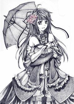 Kilahla Uchiha_Commission - 55 Beautiful Anime Drawings  <3 !