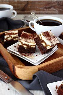 Tiramisu brownies Tiramisu Brownies, Cookie Desserts, No Bake Desserts, Baking Bad, Scones Ingredients, Sweet Pie, Recipes From Heaven, Coffee Recipes, Cake Cookies