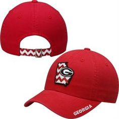 Top Of The World Georgia Bulldogs Ladies Red Chevron Crew Adjustable Hat