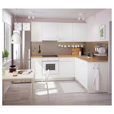 Contemporary Kitchen Design (Benefits and Types of Kitchen Style) Farmhouse Style Kitchen, Modern Farmhouse Kitchens, Home Decor Kitchen, Kitchen Interior, Small Kitchens, Kitchen Modern, Modern White Kitchens, Galley Kitchens, Dream Kitchens