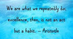 Motivational Quote We are what we repeatedly do...