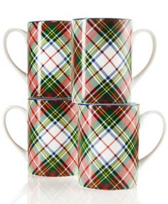 CLOSEOUT! Ralph Lauren Set of 4 Holiday Mugs
