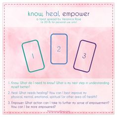 💗 'know heal empower' are my three core principles for recovery from narcissistic and similar abuse; this is the tarot spread I created to complement this recovery foundation.