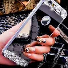 Silver Diamond Mirror iPhone 6/6s case Reflective full body iphone case with…