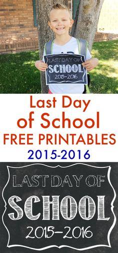 Last Day of School Printables - www.classyclutter.net