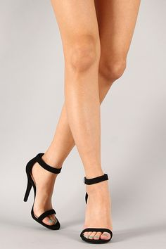 Anne Michelle Enzo-01 Nubuck Open Toe Stiletto Heel