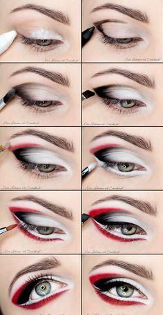 Stylish eye makeup step by step #eyes #makeup