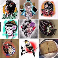 Pick one for $250. Message me and let's get it done . First one in wins . #neotraditionaltattoo #neotraditional #bodyandsouljc #bodyartsouljc #jerseycitynj #jerseycitytattoo #newjerseytattoo #newjerseytattooartist #ladytattoo #womantattoo #birdtattoo #strangerthingstattoo #ipadpro #procreate #tattooartist #tattoolife #tattooart #tattooflash #tattoodesign
