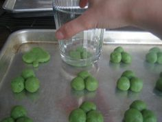 St. Patrick's Day Jello Cookies - (great way to make shamrock cookies without a cookie cutter)