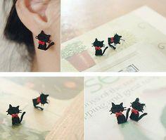 Tuxedo Cat Earrings $5.00