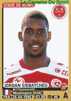 383 JORDAN SIEBATCHEU # STADE REIMS ROOKIE STICKER PANINI FOOT 2016 in Collections, Vignettes, albums, Football | eBay
