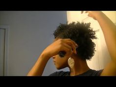 Flat Twist Out on Short Natural Hair - YouTube