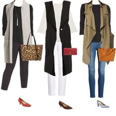 How to style vests - 11 sure fire ways to hide your belly wi Fashion Over 40, 50 Fashion, Autumn Fashion, Fashion Outfits, Curvy Fashion, Fashion Bloggers, Style Fashion, Fashion Poses, Fashion Black