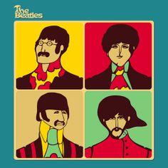 Beatles, Yellow Submarine art Les Beatles, Beatles Art, Abbey Road, Yellow Submarine Movie, Mars Needs Moms, Comic Cat, Pop Art, The Fab Four, Ringo Starr