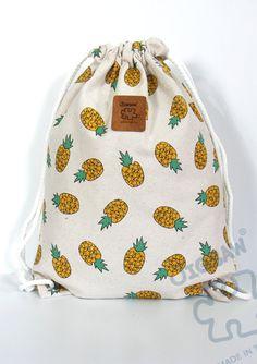 Sac à cordon sac à dos toile ananas main sac de coton par YourBags