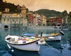 Camogli, Italy, Europe: A view of the harbor and Santa Margherita Church in Vernazza, Cinque Terre (link to Cinque Terre & Portofino travel guide)