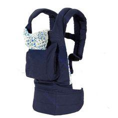 V-SOL Portabebé Mochila Para Bebés De Algodón Azul