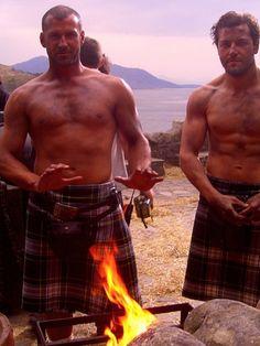 chelebelleslair:  zoearcher:  Shirtless, scruffy men in kilts. Happy Saturday.  @WickedRed569